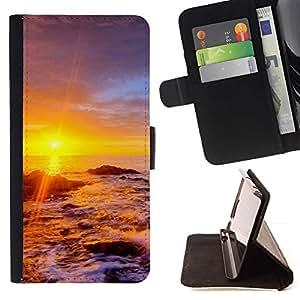 For LG G3 Case , Sunset Beautiful Nature 34- la tarjeta de Crédito Slots PU Funda de cuero Monedero caso cubierta de piel