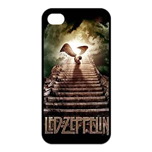 Fashion Led Zeppelin Personalized iPhone 4 4S Rubber Silicone Case Cover by icecream design