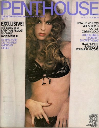 PENTHOUSE AUGUST 1976 GREEN BERETS ROBERT PALMER HOW U.S. ATHLETES ARE SCREWED OUT OF OLYMPIC GOLD AND MORE! (Olympic Beret)