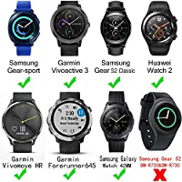 For Samsung Gear Sport Soft Silicone Sport Quick 20mm Smart Watch Bands Release Watch Strap Wristband for Galaxy Watch 42mm/Samsung Gear 2 Classic/ ...