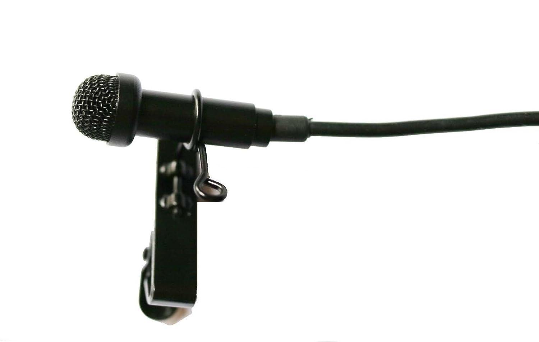 [WALLER PAA] Black Lavalier Lapel Microphone For Sennheiser EW G1 G2 G3 + Metal Cap Hat