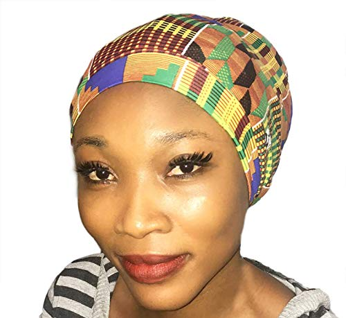 e5d70583613 Amazon.com: Fairy Black Mother Dreadlocks Locs Cap (African kente  Large,yellow): Beauty