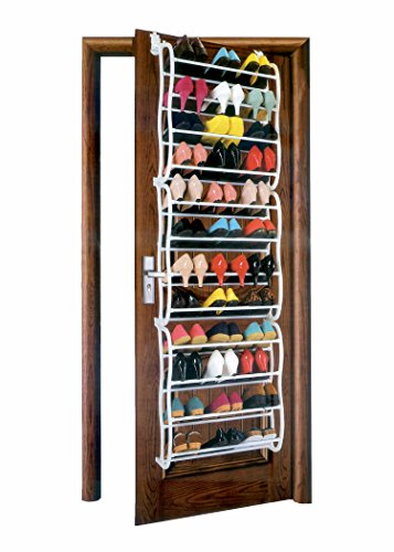 Over-The-Door 36 Pair Shoe Rack - White