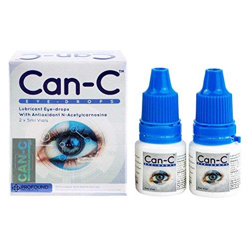 Can-C Eye Drops 2 x 5ml Vials with Eye Drop Guide Bundle