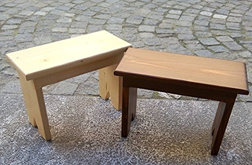 Cherry wood and oak wood benches