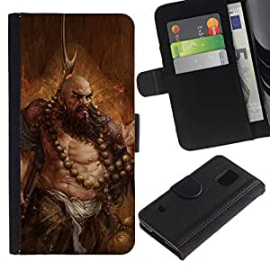 NEECELL GIFT forCITY // Billetera de cuero Caso Cubierta de protección Carcasa / Leather Wallet Case for Samsung Galaxy S5 V SM-G900 // ARTE BARBARIAN