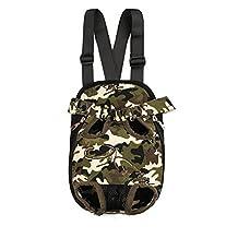 Fosinz Outdoor Adjustable Pet Carrier Breathable Comfortable Backpack Lightweight Bag Free Your Hands (XL, Camo) by Fosinz