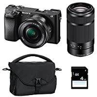 SONY ALPHA 6300 NOIR + 16-50 + 55-210 + SD 4 Go + Sac
