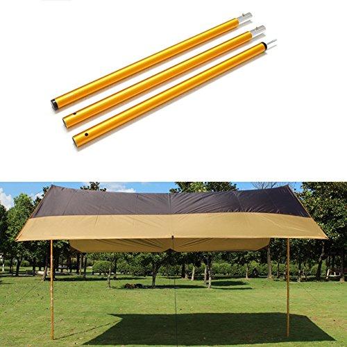 トラブル構成するお香Cozyrom アルミテントポール テント タープ ウイング 用 アウトドア キャンプ用品 軽量 アルミ 3段階