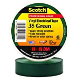 BOX USA BT964035G Green 3M 35 Electrical Tape, 7 mil, 3/4'' x 66' (Pack of 100)