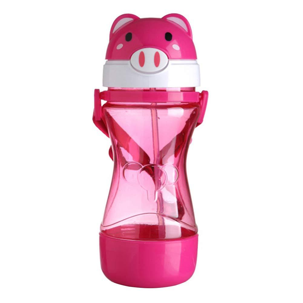 Random HsgbvictS Water Bottle Kitchen Tools /& GadgetsDrinking Cup Cartoon Animal Baby Kids Drinking Water Straw Bottle Strap Leakproof Feeding Cup