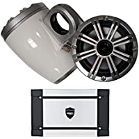 Kicker Marine Wake Tower System w/Silver 6.5 Speakers, Wet Sounds HT-4 400 Watt Marine Amp