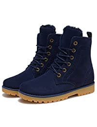 Kalends Unisex Nubuck Lace Up Winter Boots