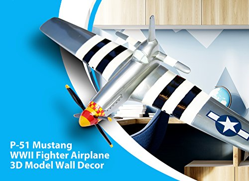 North American Aviation P-51 Mustang WWII Fighter Plane 3D Wall