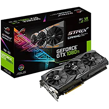 T. Video ASUS Nvidia GTX1080 Ti 11GB GDDR5 ROG-STRIX-GTX1080TI-O11G-GAMING