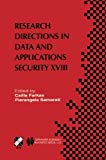Research Directions in Data and Applications Security XVIII, , 1475779941