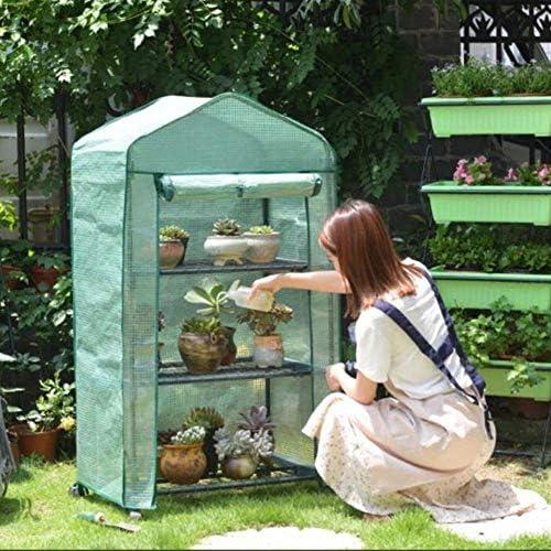 ビニールハウス 69×49×125センチメートル小型家電温室テント、強化カバレッジとサイド換気と家族の植物成長部屋、防水PE温室テント、 (Color : B)