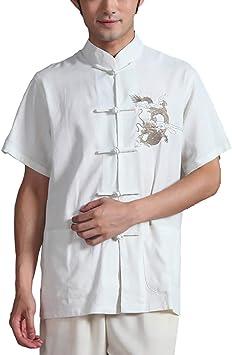Unisex Ropa De Taijiquan Práctica Ropa De Tai Chi Vestido De Artes Marciales De Viento Chino Camiseta Manga Corta: Amazon.es: Ropa y accesorios