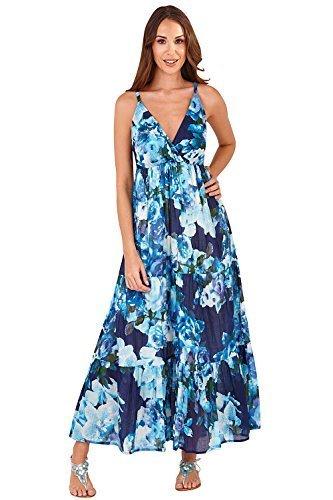 imprim crois aztque longue Floral t Robe Bleu Paisley Pistachio manche Motif femmes ou sans T5HwSnqE8