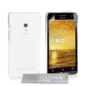 Yousave Accessories Transparente Carcasa rígida para Asus Zenfone 5