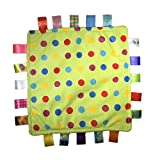 Little Taggie Like Theme Baby Sensory, Security & Teething Closed Ribbon Style Colors Security Comforting Teether Blanket - Confetti Theme w/Gift Box
