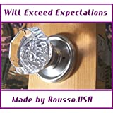 The Next Generation of Antique Crystal Glass Old Town Door Knob sets. Passage set, solid crystal with Brushed Nickel hardware, ready to install in any modern pre-drilled door. Order one returnable sample or email us for more details