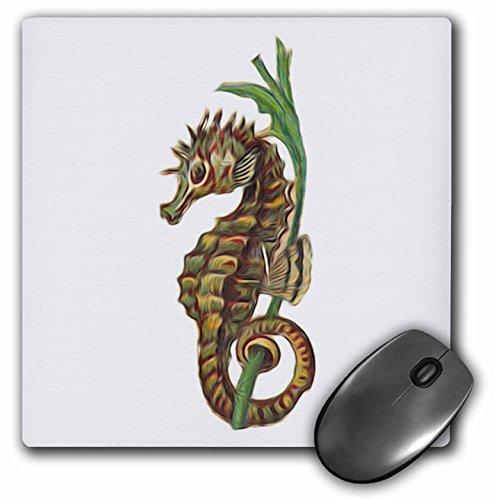 (3dRose Vintage Seahorse Nautical Illustration Vignette Mouse Pad (mp_104668_1))