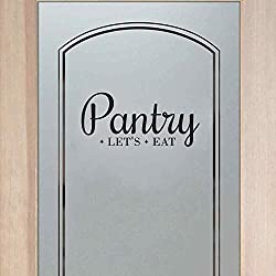 """BATTOO Pantry Decal - Pantry Door Decal - Pantry Wall Decal - Kitchen Decor - Pantry Sign - Kitchen Pantry - Kitchen D¨¦cor(Black, 7.5""""h x16""""w)"""