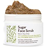 Facial Sugar Scrub Body Exfoliator - Forest Heal with Andiroba Oil & Real Strawberry Seeds, for Pore Care & Sebum Control, Skin Brightening & Hydrating Facial Scrub (100 ml / 3.38 fl.oz)