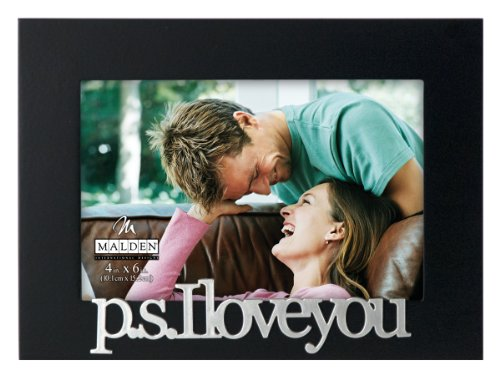 malden international designs expressions ps i love you picture frame 4x6 black