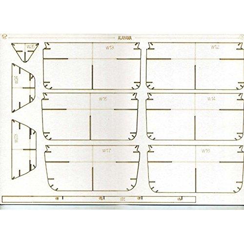 ITARY FLEET BATTLESHIP BB-60 ALABAMA 1942 1/200 OREL 221/2 ()