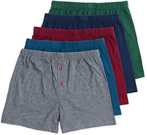 Lucky Boxers Boxer Shorts - Noah Boys Boxer Shorts, Underwear Set, 100% Pure Cotton, Multicolor, 5 Pack, 6