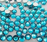 LOVEKITTY --- 1000 pcs 3mm Turquoise Rhinestones Round Flatback 14-Facet (High Quality)