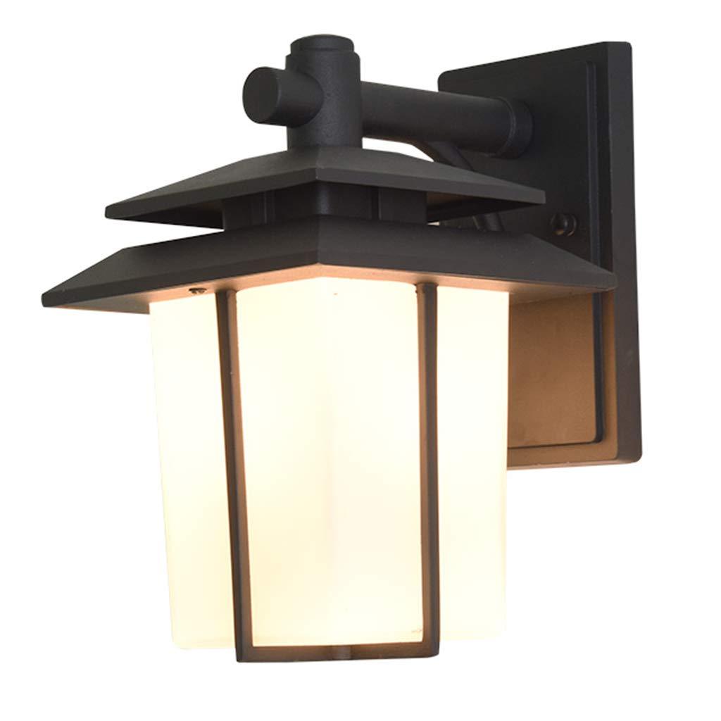 Lampade da parete Lixin Esterni Balcone Cortile Scala Semplice Corridoio Vetro pressofuso di Alluminio Impermeabile (colore   Elegant nero, Dimensioni   44  38  38cm)