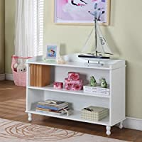 Childrens 2-shelf White Bookcase