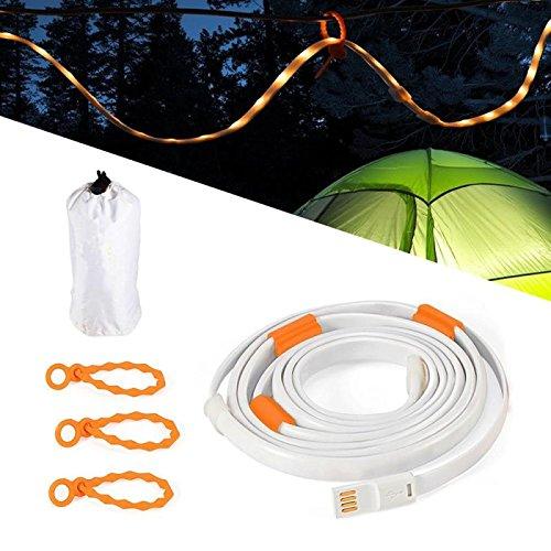 YINGSHOU LED Rope Lights for Camping Hiking Safety and Emergency Portable LED Strip Light for Outdoor Indoor Activity