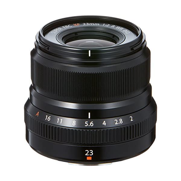 RetinaPix Fujifilm Fujinon XF 23mm F2 R WR Prime Lens - Black (Weather Resistance)