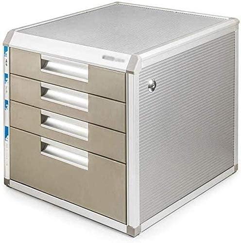 Archivador con cerradura de aleación de aluminio para almacenamiento de datos, caja de oficina, mesa, cajón del aparador, cómoda clasificación de archivos, armarios de almacenamiento: Amazon.es: Oficina y papelería