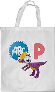 Printed Shopping bag, Medium Size, Cartoon Drawings - Dinosaur