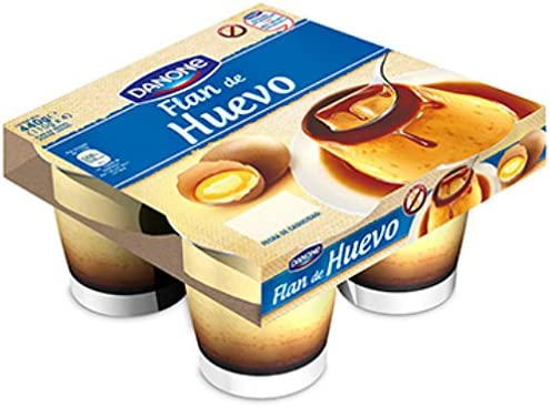 Danone De Postre - Flan De Huevo, Pack 4 x 110 g: Amazon.es ...