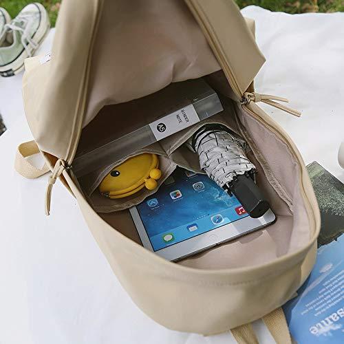 Amazon.com: Harajuku Minimalist Waterproof Canvas Backpack 2018 Small Fresh Female On Korean College Student Travel Bag Tide Wind: Kitchen & Dining