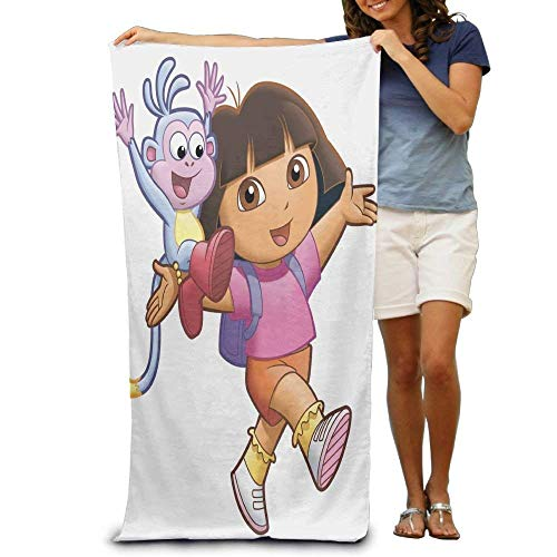 - pirdusew Great Dora The Explorer Large Beach Towel Pool Towel,Swim Towels for Bathroom,Gym,and Pool 31x51 intch