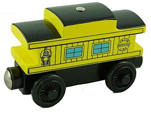 Yellow Illuminated Caboose - Thomas & Friends Wooden Railway Tank Train Engine - Brand New - Caboose Sodor Line