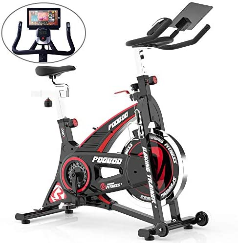 pooboo Indoor Cycling Bike Stationary Belt Drive Exercise Bikes with Tablet Holder for Home Cardio Gym Workout