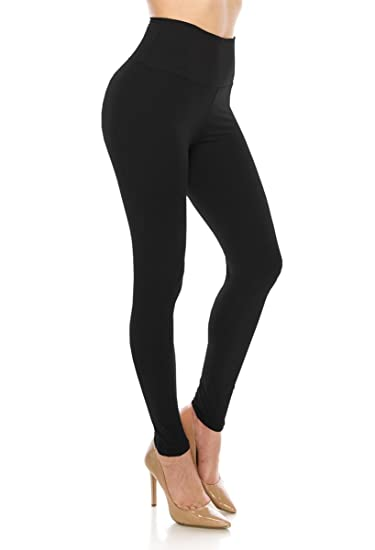 2ebe041c973c1 ALWAYS Leggings Women High Waist - Premium Buttery Soft Yoga Workout  Stretch Solid Pants Black Plus