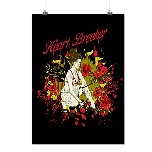 [Heart Breaker Angel Broken Love Matte/Glossy Poster A4 (9x12 inches) | Wellcoda] (Cupid Halloween Costumes Uk)