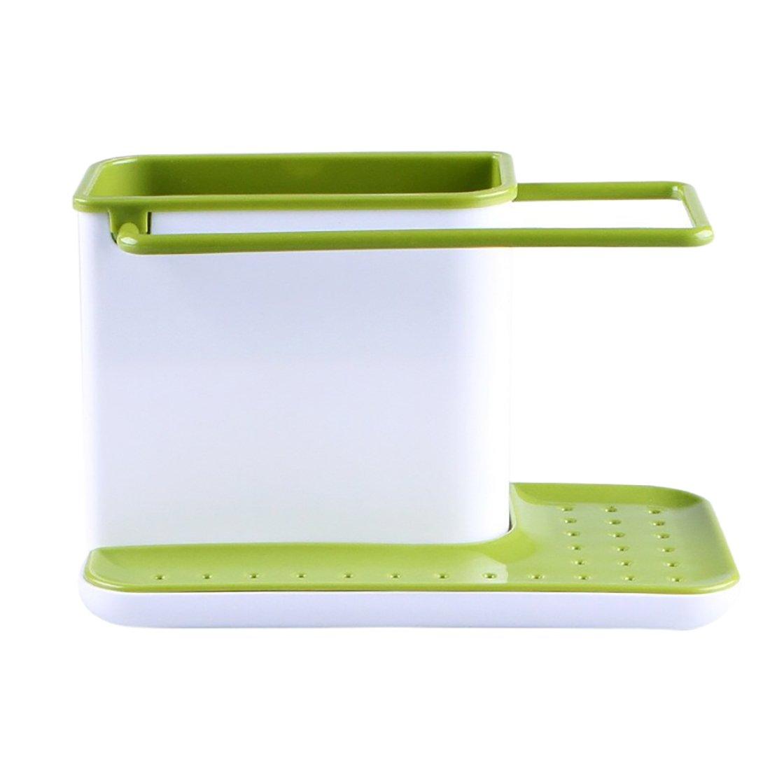 Sink Caddy Kitchen Sink Organizer Sponge Holder Dishwasher-Safe (Light green) AlenX