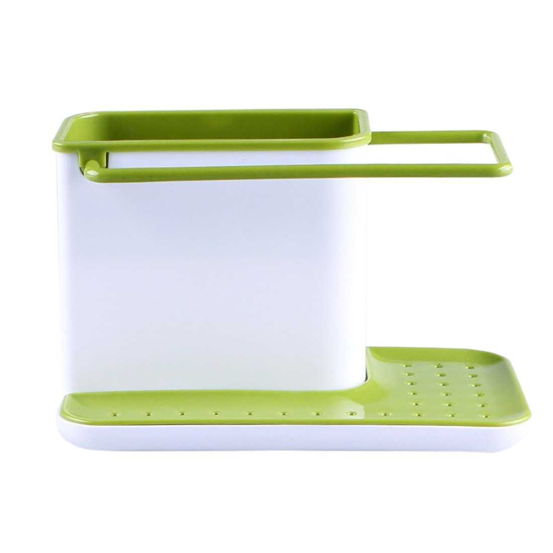 Sink Caddy Kitchen Sink Organizer Sponge Holder Dishwasher-Safe (Light green)