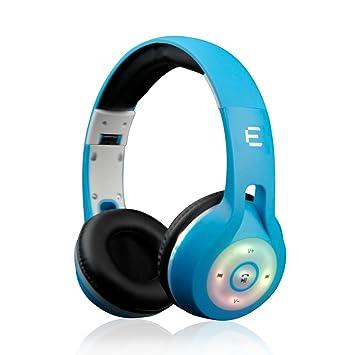 Auriculares LED Stéreos Inalámbricos 4.1 Bluetooth Plegable por Encima del Auricular para iPhone 8, iPhone X, Samsung: Amazon.es: Electrónica