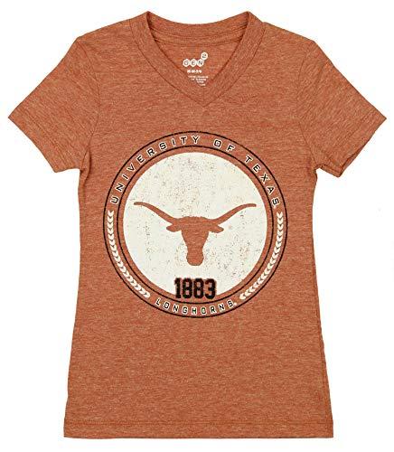 Outerstuff NCAA Little Kids (4-7) Texas Longhorns V-Neck Short Sleeve Tee, Orange Medium (5/6)